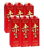 赤の松藤 黒糖酵母仕込み 泡盛 パック 30度 1800mlx6