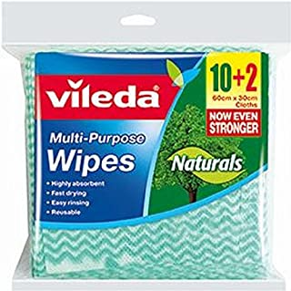 Vileda Natural All Purpose Wipes 10+2s pack, 12 count