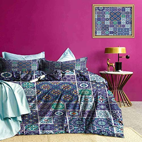 Juego de Funda nórdica Azulejo de Mosaico Tradicional La Funda de edredón de Estilo Moderno Hace Que la habitación destaque un Poco más