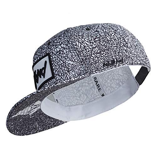 Czapka snapback dla dzieci z motywem mgły czarna biała czapka 6-panelowa, jeden rozmiar