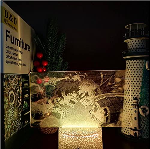 My Hero Academia Boku No Hero Academia Izuku Vs Bakugou 3D Led Anime lámpara luces nocturnas lámpara de iluminación visual para decoración del hogar