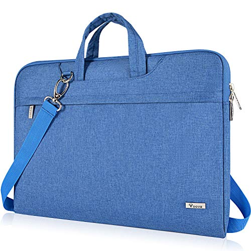 Voova 17 17.3 Zoll Laptoptasche Laptop Hülle Notebook Tasche mit Schulterriemen, Wasserdicht Notebooktasche für MacBook Pro 17, HP Pavilion 17, 18 Zoll Laptophülle Laptop Bag für Herren-Hell Blau