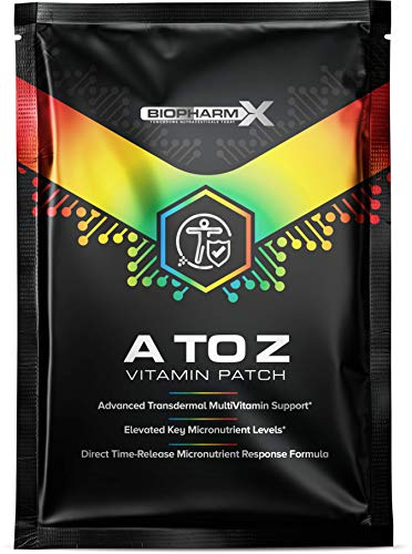 A to Z Multivitamin Patch (1 Month Supply / 30 Patches) All Essential Vitamins A,C, D, E, K Plus All B Vitamins - Pure Certified & Maximum Strength Transdermal Patch