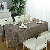 WSJIABIN Tischdecke, Digitaldruck, grüne, frische Pflanzen, fettabweisend, rechteckig, geeignet für Innen- und Außenbereiche, wiederverwendbar (140 x 140 cm)