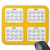 Rechteck mauspads 2015-2018 kalender von janz gold mousepad