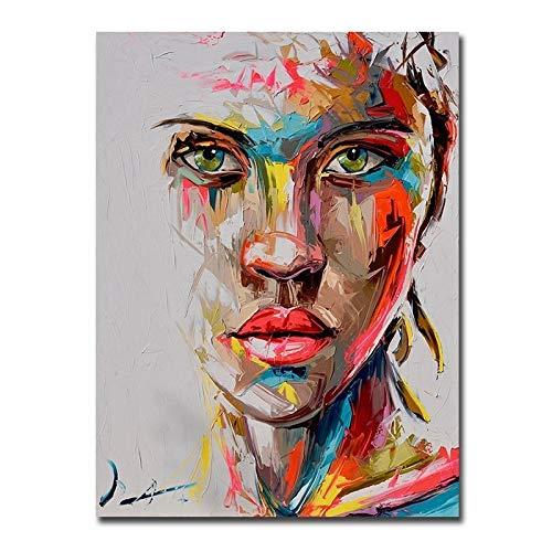 BGFDV Cartel de Retrato de Mujer Abstracto Moderno Lienzo Pintura impresión Arte de Pared Imagen Estilo nórdico decoración de Sala de Estar