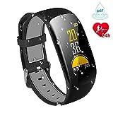 Karseen Fitness Tracker H2Plus Reloj inteligente resistente al agua con pantalla OLED color con monitor de actividad cardiaca(negro)