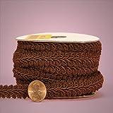 Brown Gimp Braid Trim, 5/8' X 10yd