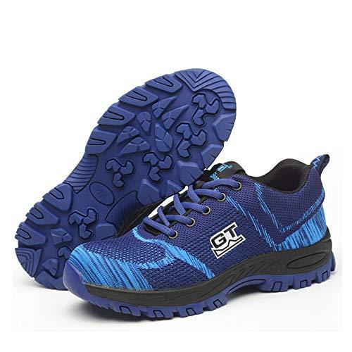 Zapatillas de Seguridad para Mujer Hombre, Zapatos Trabajo U