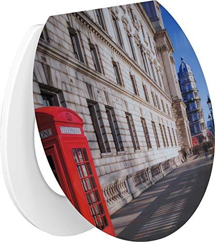 Primaster Toilettendeckel London Absenkautomatik WC Sitz Toilettensitz Klodeckel