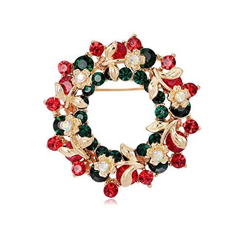 BiBeary Kränze Broschen für Damen Weihnachten Zirkonia Glocke Geschenke Party Fashion Zubehör
