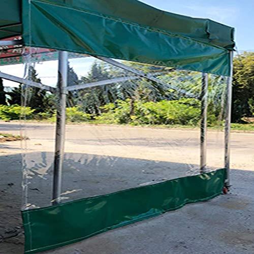 Lona alquitranada Lona Impermeable Transparente, Panel Lateral de Partición con Ojales, Pantalla de Cortina de Empalme, a Prueba de Lluvia a Prueba de Viento para Garaje, Porche