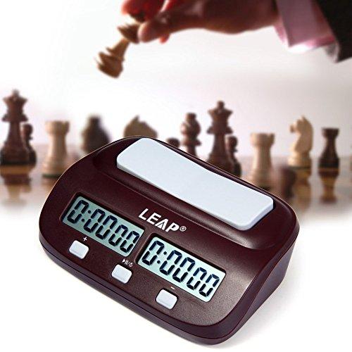 Joyeee Analoge Professioneller Wettbewerb Uhr Schachuhr Zeitgeber, Digital Chess Clock Count Up Down Uhr Timer für Board Schach Spiel Player #2