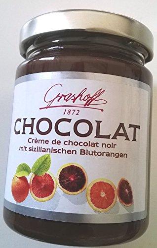 250g Grashoff Créme de chocolat noir mit sizilianischem Blutorangenöl -