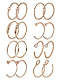 Masedy 16Pcs 20G 316L Stainless Steel Nose Rings Hoop Tragus Cartilage Helix Ring Lip Septum...