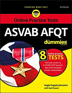 ASVAB AFQT For Dummies: Book + 8 Practice Tests Online