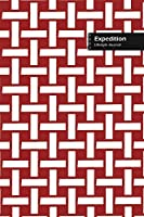 Expedition Lifestyle Journal, Wide Ruled Write-in Dotted Lines, (A5) 6 x 9 Inch, Notebook, 288 pages (144 shts) (Red)