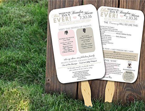 Personalized Wedding Fans/Personalized wedding favors/personalized wedding gifts/wedding fan programs/(Sold in sets of 10)