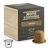 Note D'Espresso - Cápsulas de bebida instantánea de ginseng, 4,3g (caja de 40 unidades) Exclusivamente Compatible con cafeteras Nespresso*