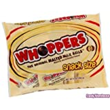 Whoppers Malted Milk Balls, Snack Size packs,  3.6 oz bag