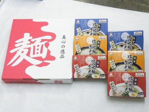 乾燥(S)・比内地鶏あんかけラーメン6袋(12食分、2人前×6)セット 【他メーカー商品と同梱不可】