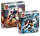 Collectix Lego Set - Marvel Avengers Capitán América Mech 76168 + Marvel Avengers Thor Mech 76169, el regalo perfecto para niños a partir de 7 años.