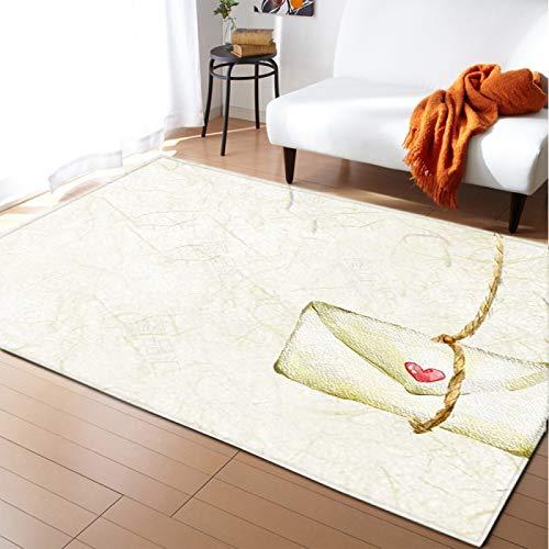 Alfombra gruesa de terciopelo suave alfombra inferior antideslizante para el dormitorio de la sala de estar dibujos animados amor sobre piso pad kid's room play Mat Nursery Runner Carpet ,152 * 124CM