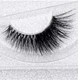 Alluring 3D Mink Lashes Reusable Strip, 100% Siberian Mink Fur False Eyelashes, Hand-made Cruelty Free Cat-Eye F209