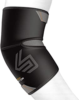 Shock Doctor Elbow Compression Sleeve with Extended Coverage (Black)