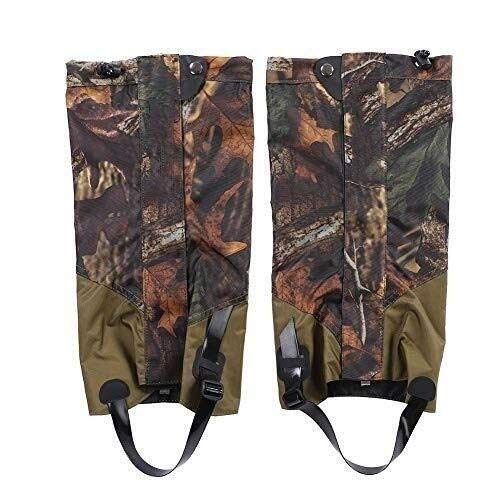 Waterproof Ski Hiking Gaiters Leg Gaiters for Boots Men Women Unisex Leg Warmers Walking Boot Covers Dustproof Snow Protection Gear for Winter Climbing Hunting Outdoors Sports 828