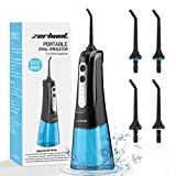 Water Flosser Teeth Cleaner, Cordless Dental Oral Irrigator with DIY Mode, Rechargeable Water Flosser for Braces, Bridges, Implants Care, IPX7 Waterproof with 4 Interchangeable Jet Tips