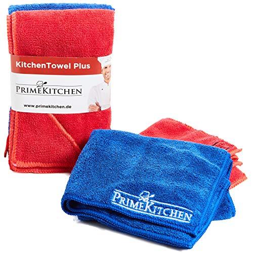 PrimeKitchen Mikrofaser Tuch - auch für Ihr Auto - praktische Microfaser Geschirrtücher - universales Trockentuch für Ihren Haushalt - saugstarkes Spültuch Größe je 57 x 38cm