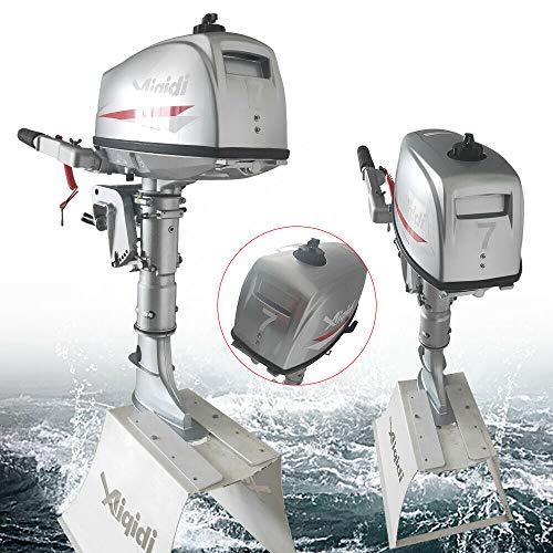 HaroldDol buitenboord, 7 pk, 2-takt benzinemotor, bootsmotor, buitenboordmotor, rubberboot waterkoeling 40 cm korte as