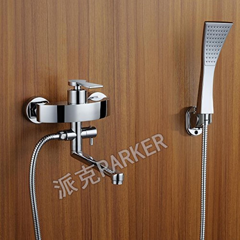 MangeooVolle Kupfer halb Goldenen Badewanne heies und kaltes Wasser, 360 Grad schwenkbar einfache Badewanne Dusche Zeichnung Haupt gesetzt.