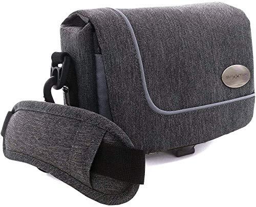 Baxxtar Verona Kameratasche - mit Gürtelschlaufe und Schultergurt - schwarz grau meliert