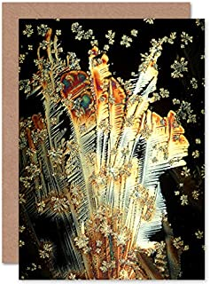 Fine Art Prints Crystals Of Vitamin C abstrakt gratulationskort med kuvert inuti premiumkvalitet
