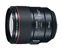 Canon's First 85mm L-series Lens with IS Capability. Large, Bright f/1.4 Aperture. Image Stabilization at up to 4* Stops of Shake Correction. GMo Aspherical Lens with Air Sphere Coating Technology. Lens Construction: 14 elements in 10 groups