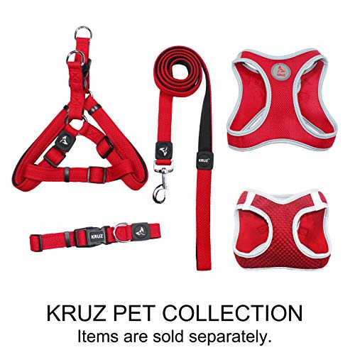 Kruz Step In Dual Layered Mesh Dog Harness - KZA201 - Heavy Duty, No Pull, Easy Walk, Quick-Fit Vest - Comfortable…