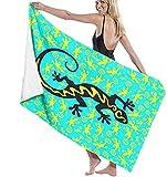 Toallas de playa de microfibra, diseño de madre de muchos lagartos, toalla de playa ligera, perfecta para familias, hoteles, viajes, natación, fitness, deportes