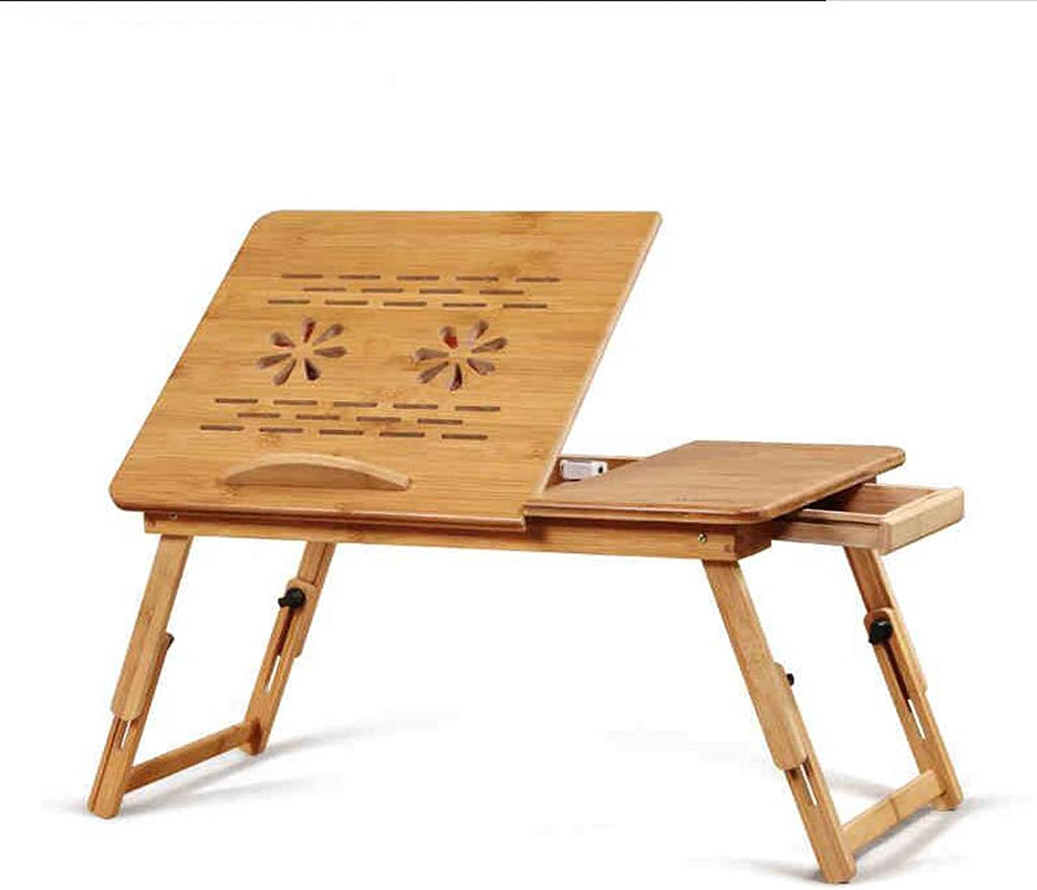 Djyyh Laptop Table, Foldable Lazy Table, Portable Small Dining Table, Dormitory Small Desk