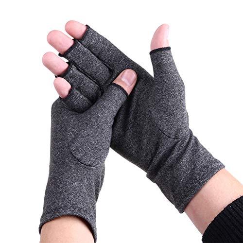 Supvox Arthritis-Handschuhe Kompressionshandschuhe Fingerlose therapeutische Handschuhe für arthritische Gelenkschmerzen Symptomlinderung Größe L