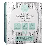 The Honest Company Organic Cotton Regular Tampons (64 count)
