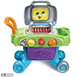 LeapFrog Smart Sizzling BBQ Grill Toy BBQ, Kids Kitchen BBQ Playset with Play Food, Play Kitchen Accessories,...