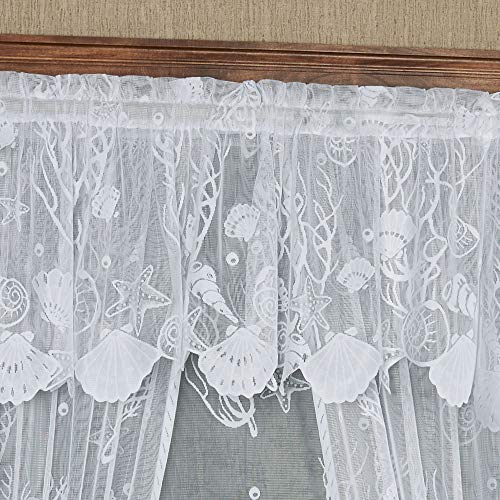 Touch of Class Sea Treasures Lace Tailored Valance 56 x 18