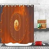 Zellspirale Close up Duschvorhang Badezimmer Dekor Stoff 12hooks