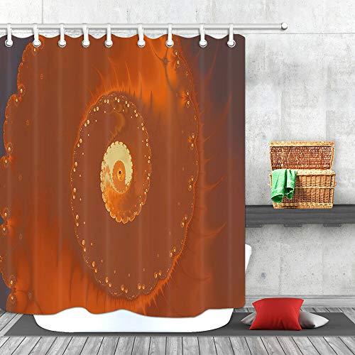 /N Zellspirale Close-up Duschvorhang Badezimmer Dekor Stoff und 12hooks 71x71inches