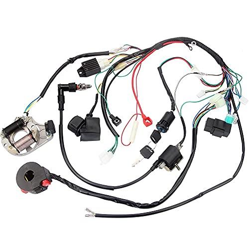 Complete Electrics Stator Coil CDI Wiring Harness Kit for 4 Stroke ATV KLX 50cc 70cc 110cc 125cc Pit Quad Bike Buggy Go Kart Dirt Bikes