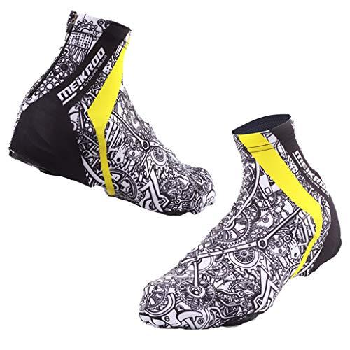 Baoblaze Wasserdicht Regenschuhe Überziehschuhe Schuhüberzieher Fahrrad Überschuhe Schuhhülle für Radfahren - L