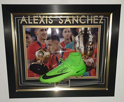 Alexis Sanchez signierter Fußballschuh