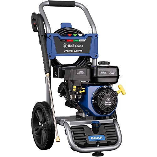 Westinghouse WPX2700 Gas Powered Pressure Washer 2700 PSI and 2.3 GPM, Soap Tank and Four Nozzle Set, CARB Compliant (Renewed)